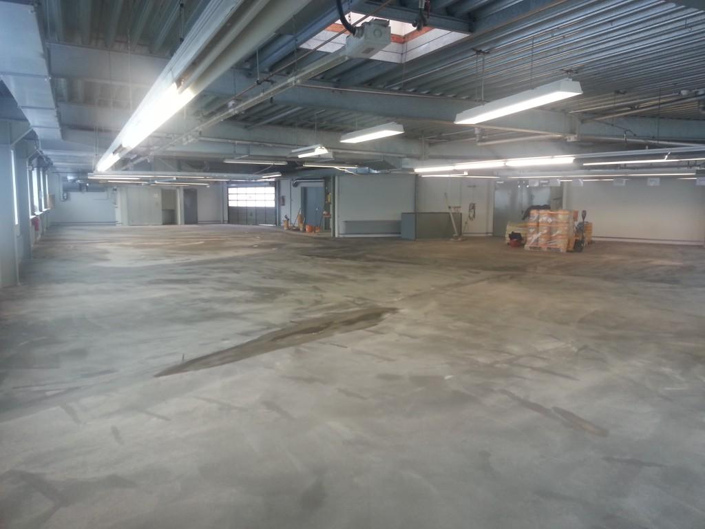 Sanierung einer Halle mit anschliessender Fußbodenbeschichtung